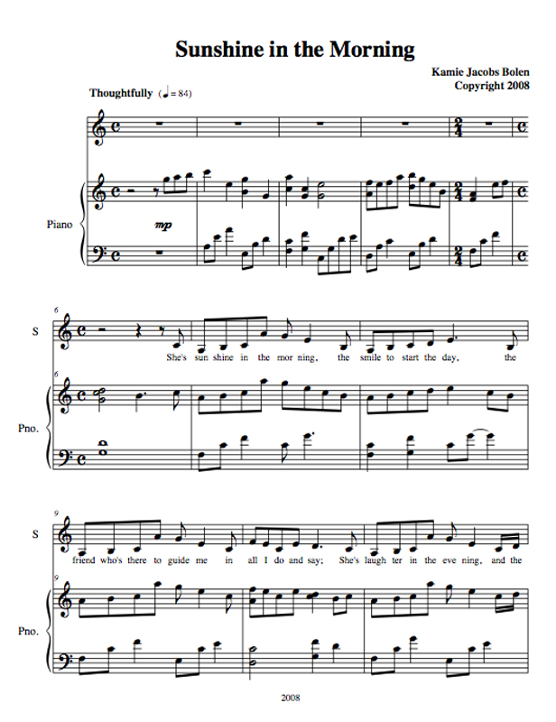 A Tribute To My Mother And All Mothers For Seeing The Limitless Potential Of Their Children Click Here Lyrics: Here Comes The Sun Sheet Music Words At Alzheimers-prions.com